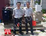 The set of 120KVA CUMMINS soundproof generator was delivered to customer in Hai Phong on 2010 June 16th