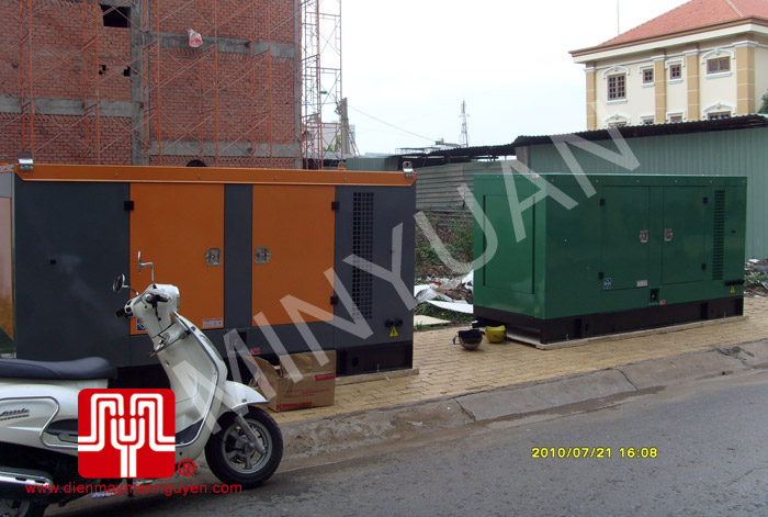 The set of Cummins generator was delivered to customer in Ho Chi Minh on 2010 July 21st