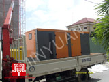 The set of 300KVA Cummins soundproof generator was delivered to customer in Ho Chi Minh on 2010 July 31st