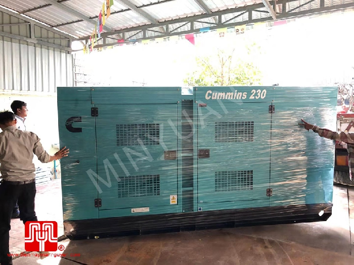 The Set of 230kva Cummins generator was delivered on 28/12/2019