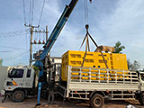 The Set of 400kva Cummins generator was delivered on 01/04/2019