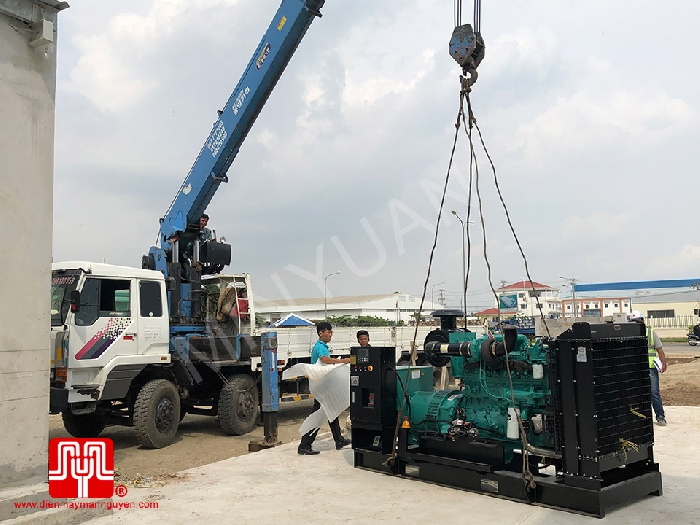 The Set of 400kva Cummins generator was delivered on 26/11/2019
