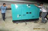 The Set of 60kva Cummins generator was delivered to customer in HCM on 03/04/2017