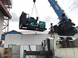 2018年06月24日交付柬埔寨客户625KVA玉柴开架机组