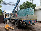 The Set of 180kva Cummins generator was delivered on 31/07/2019